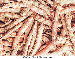 Cranberry beans vintage desaturated - Vintage desaturated...