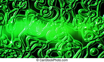 Loopable moving green glass element