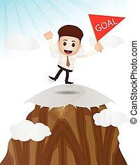 reaching goal target