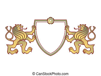 a couple of lions crest