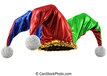 jester hat isolated on white background 3d illustration
