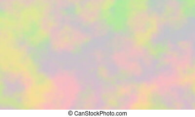 Pastel seamless loop animation - Blur with flowing yellow,...
