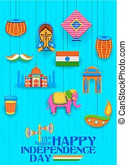 Happy Independence Day banner - illustration of Happy...
