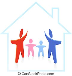 family to have a house built