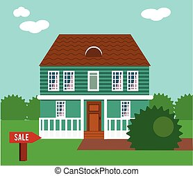 Real estate on sale House, cottage, townhouse, mansion...
