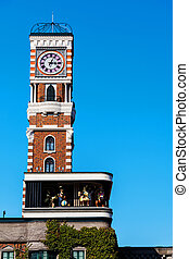 clock tower at Chocolate factory, Sapporo - clock tower at...