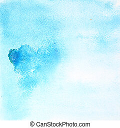 Light blue watercolor background - Light blue abstract...