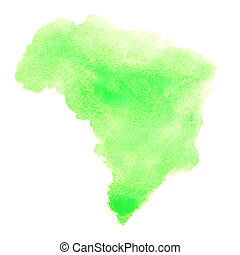 Watercolor stain - Brazil - Green watercolor stain looks...