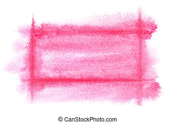 Light red watercolor frame - abstract background or space...