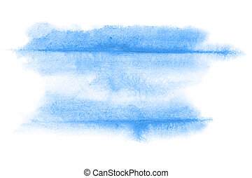 Blue watercolor background - Blue abstract watercolor...
