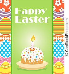 Easter background card with cake
