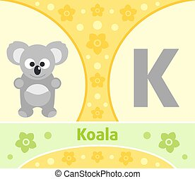 The English alphabet Koala