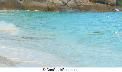 Azure water Similan Islands - Turquoise sea water waves,...