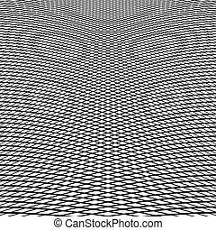 Dynamic lines grid Monochrome geometric pattern, abstract...