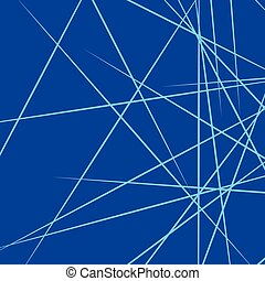 Dynamic irregular lines placed randomly. Geometric...