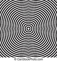 Circular, radiating lines, concentric circles geometric...