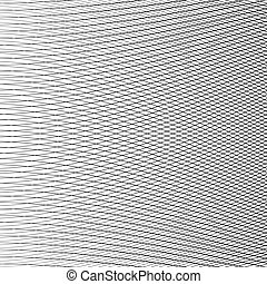 Dynamic lines grid. Monochrome geometric pattern, abstract...