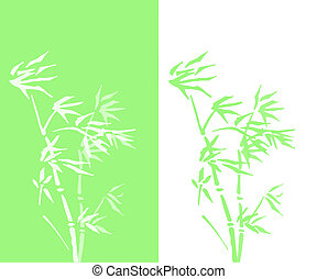 abstract bamboo double vector
