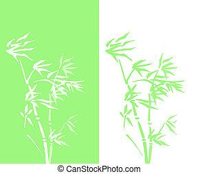 abstract bamboo double vector