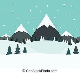 Beautiful snowy winter landscape - Beautiful snowy winter...