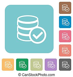 Flat database ok icons