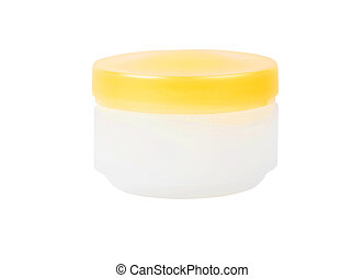 White cream can - Can with a face cream, isolated on white...