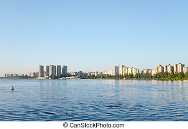 View of Neva river, StPetersburg - View of Neva river and...
