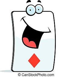 Diamond Card Smiling
