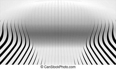 waving 3d rendered stripes. Seamless loop