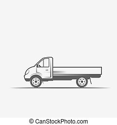 truck grayscale images on a white background