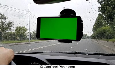 Smartphone inside the car - Smartphone installed on the...