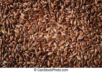 Flax seeds linseed as natural food background - Healthy diet...