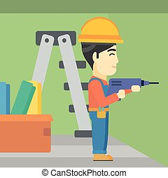 Constructor with perforator.