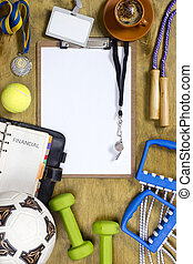 Items for the sports coach