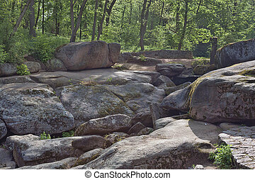 Rock Garden in Sophia park. Uman, Ukraine