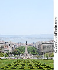 Eduardo VII park in Lisbon - beautiful view of Eduardo VII...