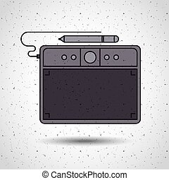 digital tablet design isolated icon design, vector...