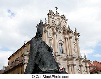Statue of Wyszynski in Warsaw - Statue of Stefan Wyszynski,...