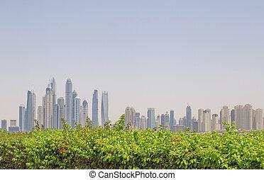 cityscape of Dubai - cityscape of district Marina in Dubai