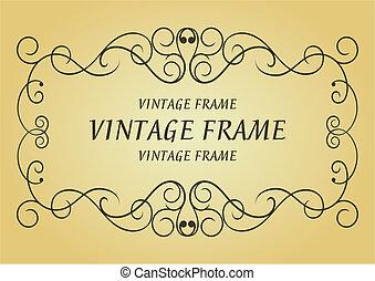 Swirl vintage frame