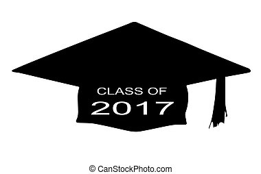 Class of 2017 - A cap with the legend Class of 2017 over a...