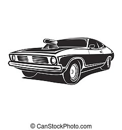 Muscle car vector poster - Muscle car vector art poster...
