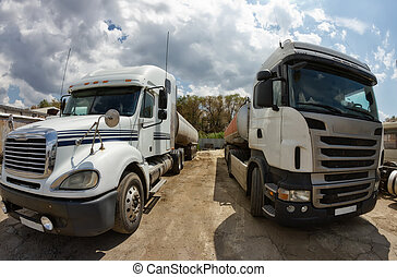 Not washed trucks for long distance transport of industrial...