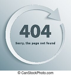 404 Error Page - 404 page not found template with reboot...