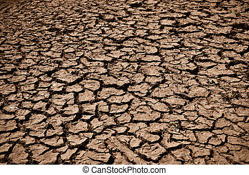 Cracked Ground Dirt - Cracked and Arid Ground Dry without...