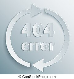 404 Error Page - 404 page not found template with two reboot...