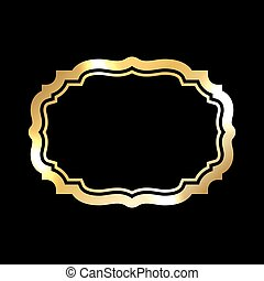 Gold frame. simple black