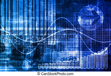 Digital Economy Abstract Business Concept Wallpaper...