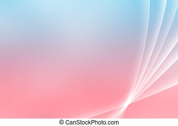 Blue Pink Soothing Vista Curves