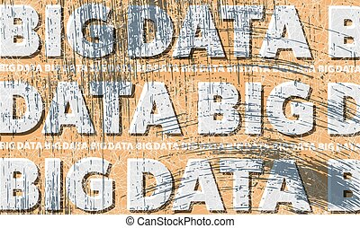 Scratched background and the words big data
